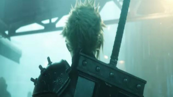 Cloud has a new look in the Final Fantasy 7 remake