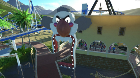 clown park entrance planet coaster