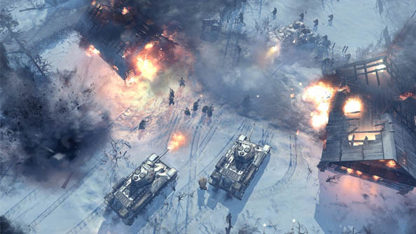 Company of Heroes 2: Turning Point trailer features overweight tanks braving very thin ice, unwisely