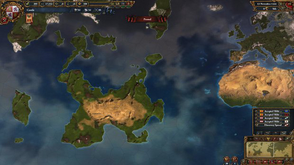 America gets randomized in Europa Universalis IV: Conquest of Paradise on January 14