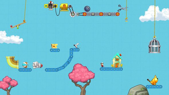 Contraption Maker: The Incredible Machine, with modern physics.