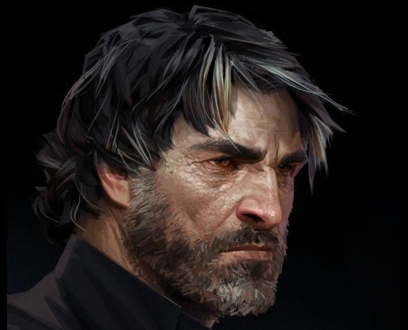Dishonored 2 concept art Corvo