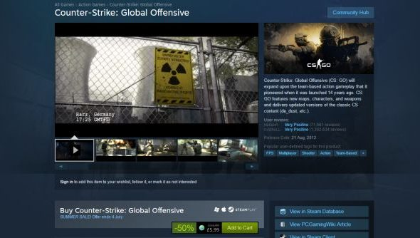 CS:GO not giftable in the Steam Summer Sale – Valve say it