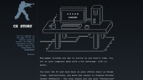 CSSTORY is a Counter-Strike themed text adventure