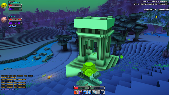 "Say no to MMO: introducing Cube World's ""more exploration-based"" quest system"