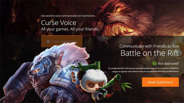 Riot approve two third-party apps for League of Legends: Curse Voice and Razer Comms