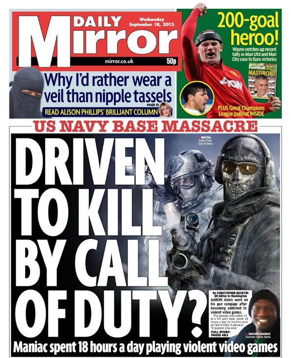 Image result for newspaper blame videogame