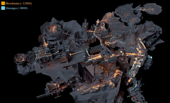 Dark Souls heat map