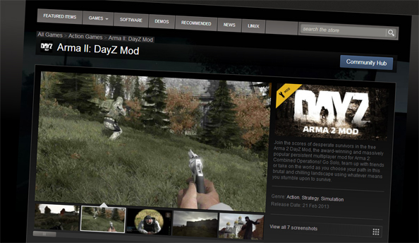 free to play games on steam like dayz