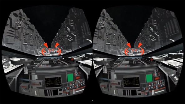VR2D2: Death Star trench run adapted for Oculus Rift