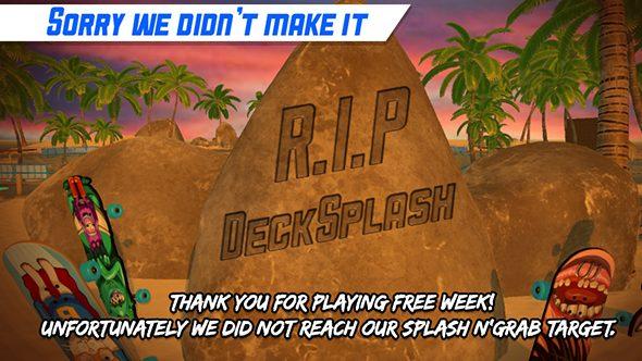 deck splash free week player count
