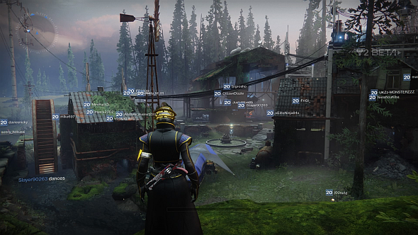 The black and blue tent in the foreground is Eververse