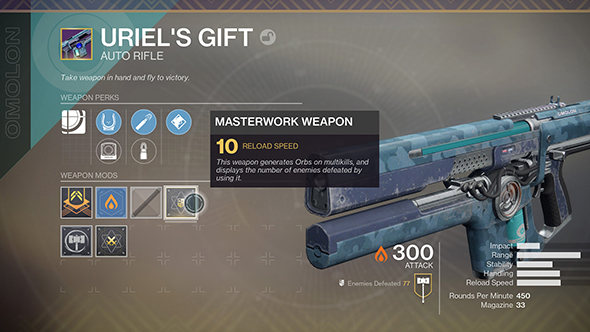 destiny 2 masterwork weapon