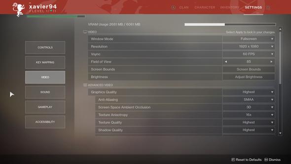 destiny 2 pc graphics options