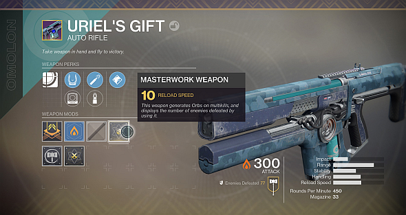 Normal Legendaries can be upgraded to Masterworks by equipping Masterwork mods