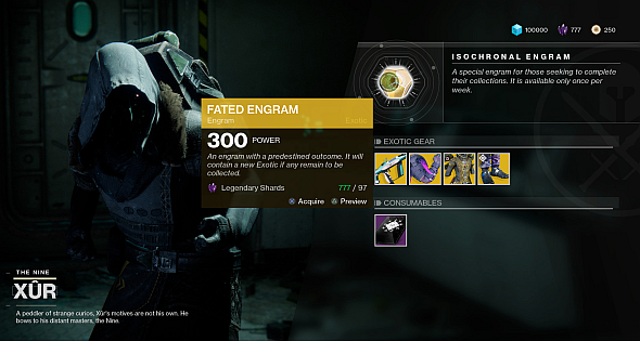 Three of Coins is back, and there are ways to get guaranteed non-dupe Exotics