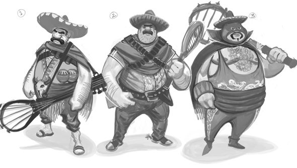 These conceptmen of Deuce are labelled Mexican Roughs.
