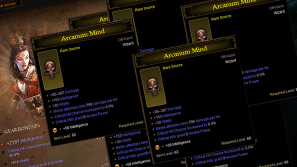 More evidence of item duplication in Diablo 3: six wizards spotted with the same item