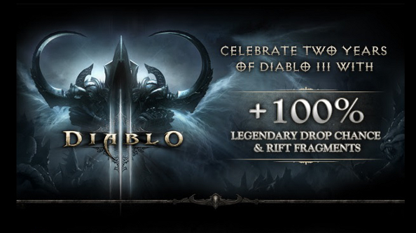 Diablo 3 celebrates its birthday with 100 percent bonuses to Legendary loot and Rift Fragment gains
