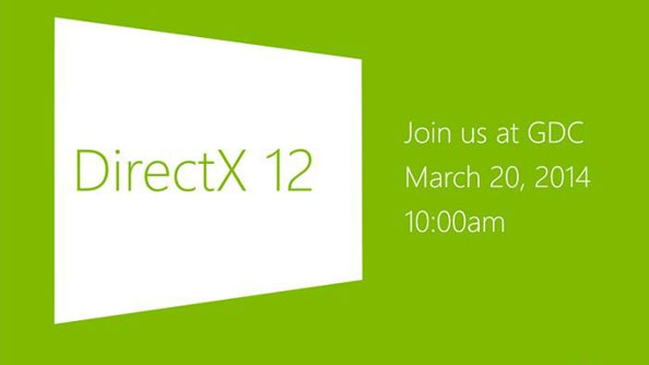 Microsoft will talk DirectX 12 at GDC this month