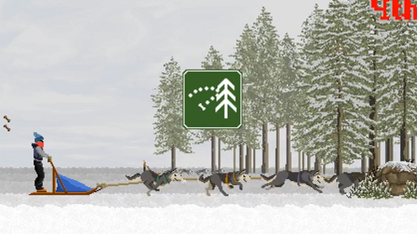 Dog Sled Saga is a Kickstarter for a dog sled race simulator all about dogs