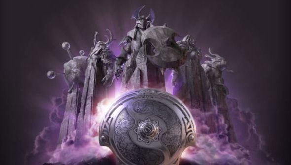 The clouds on the official Dota 2 International site flash with purple lightning, so maybe look at that too.