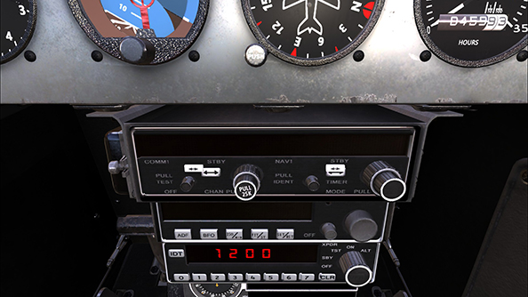 Dovetail Flight School controls