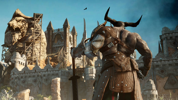 This horned fella has edged into a screenshot to ensure he avoids the Dragon Age: Inquisition cuts. Cunning.