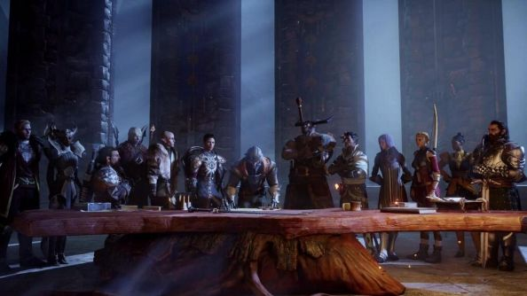 Can you make out any familiar Dragon Age party members here? I cannot, alas.