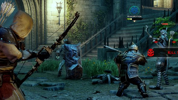 Demon-hunting with chums in Dragon Age: Inquisition.