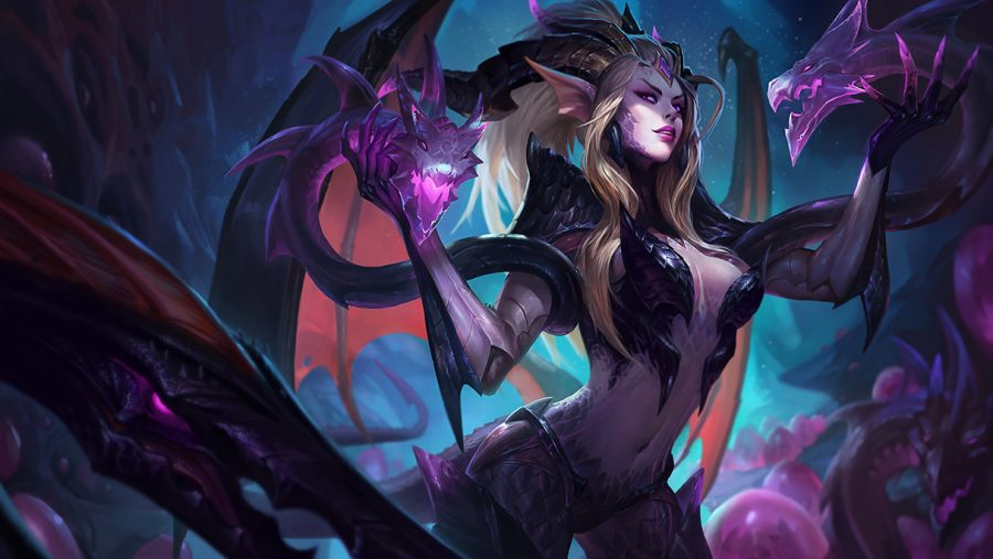 Dragon Sorceress Zyra splash art