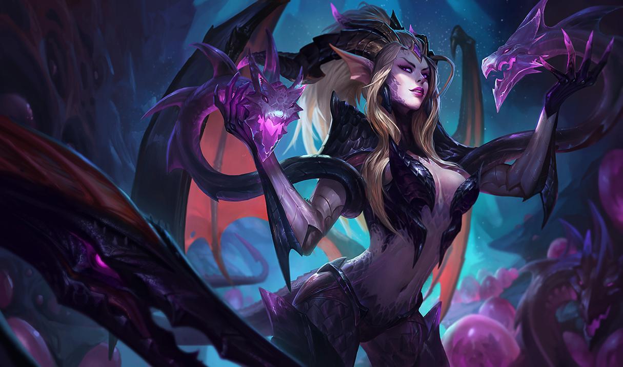 Dragon Sorceress Zyra splash art