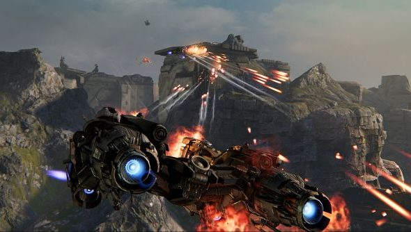 The Dreadnought in question: large, but not unexplodable.