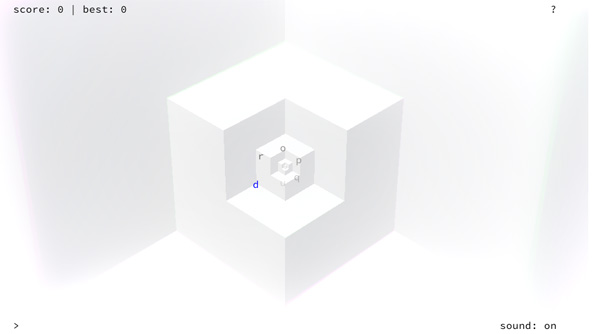 Notch's latest game is called Drop, a free browser game about falling into a cube forever