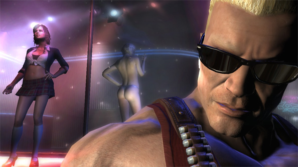 The voice of Duke Nukem hates guns, violent games and irony