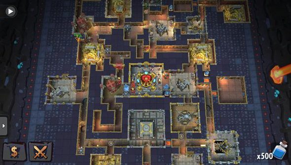 Dungeon Keeper on iOS and Android: superficially reminiscent.