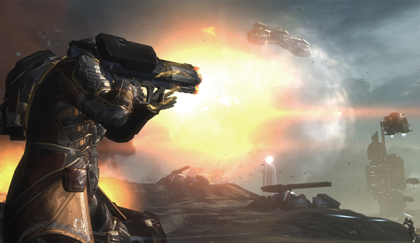 "Dust 514 closed beta to continue until 2013; ""We want to get everything right before we join those two worlds."""