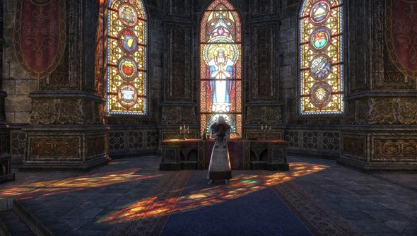 The new Elder Scrolls interior lighting effects, as shown off by Zenimax Online.