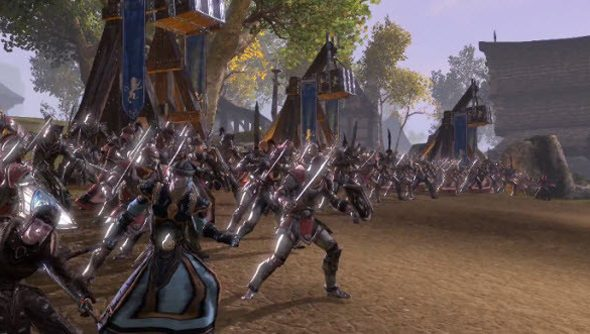 Elder Scrolls Online PvP takes a great wad of leaves from the book of Dark Camelot.