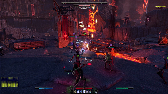 A game of Battlegrounds. Note the lava.