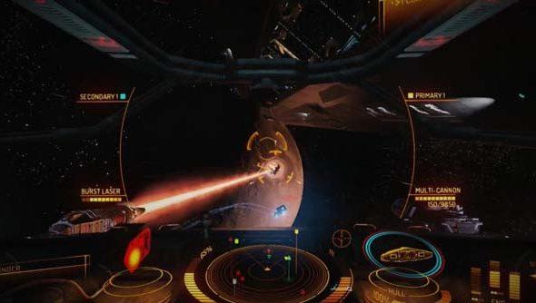 The current cockpit features the Elite-famous Gravidar.