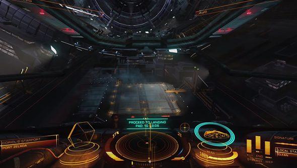 Docking fun in Elite: Dangerous.