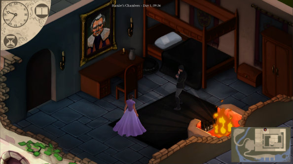 Elsinore is a time-traveling narrative adventure game based in the world of Shakespeare's Hamlet