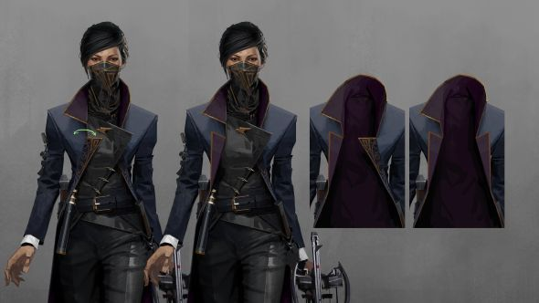 Emily's costume, designed to show authority while enabling mobility
