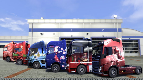Holidays are coming: Euro Truck Simulator 2 - Christmas Paint Jobs Pack