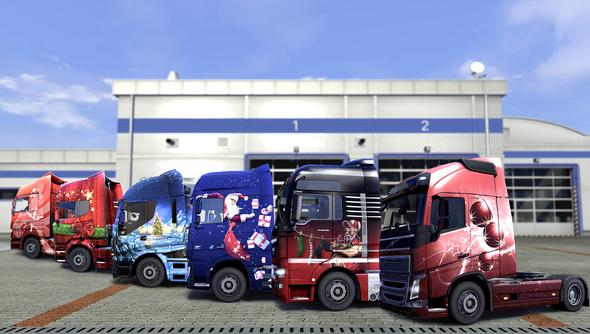 euro truck simulator 2 christmas paint jobs pack dlc SCS