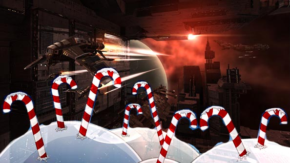 EVE Online celebrates Christmas with gifts and snowball fights