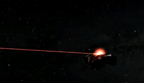 First footage of orbital laser fire between Eve Online and Dust 514 emerges; exclamations abound