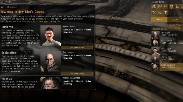 EVE Online career agents