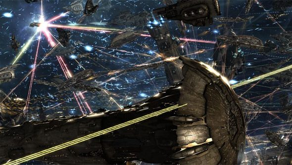 The Eve Online battle to end them all. The pew is strong with this one.